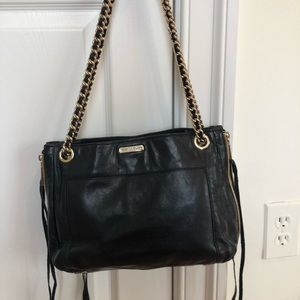 Rebecca Minkoff Shoulder Bag w/Gold Chain Detail